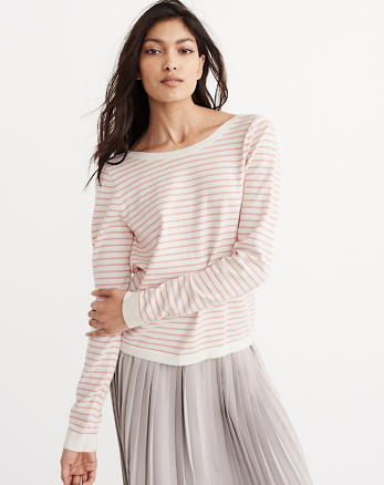 ANF Zip Striped Sweater