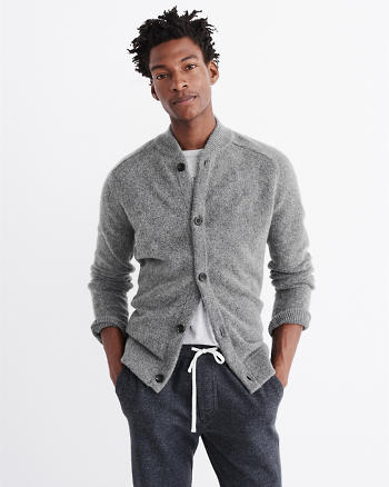 ANF Wool-Blend Bomber Cardigan