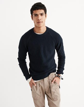 ANF Stitch Crew Sweater