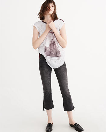 ANF Relaxed Crepe Tee