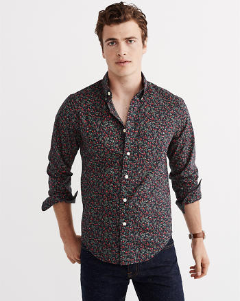ANF Print Poplin Shirt