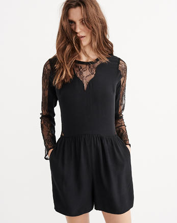 ANF Lace Detail Romper