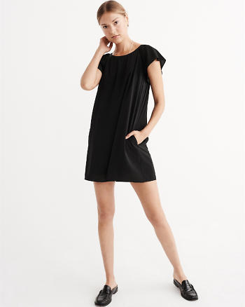 ANF Ruffle Woven Dress