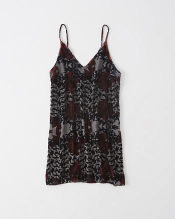 ANF Velvet Burnout Slip Dress