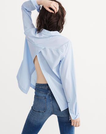 ANF Preppy Split Back Shirt
