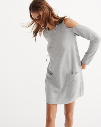 ANF Fleece Shift Dress