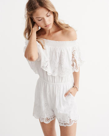 ANF Off-The-Shoulder Lace Romper