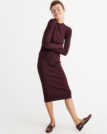 ANF Lurex Midi Sweater Dress