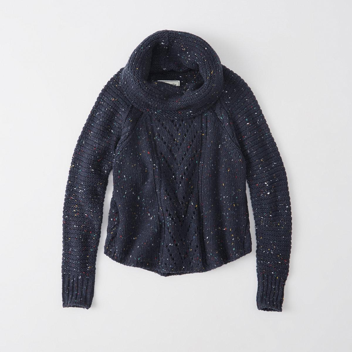 Convertible Turtleneck Sweater