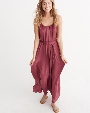 ANF Satin Maxi Dress