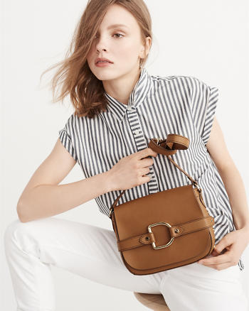 ANF Faux Leather Crossbody Bag
