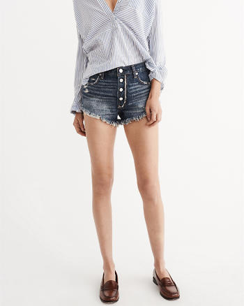 ANF High Rise Button Shorts
