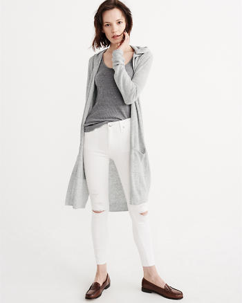 ANF Lightweight Hooded Duster Cardigan