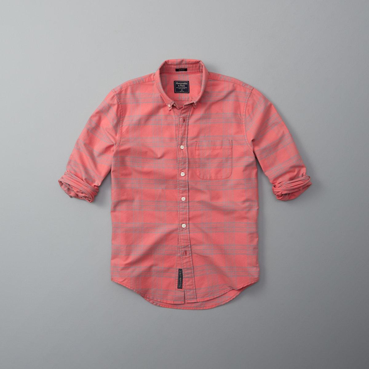 Bleached Plaid Oxford Shirt