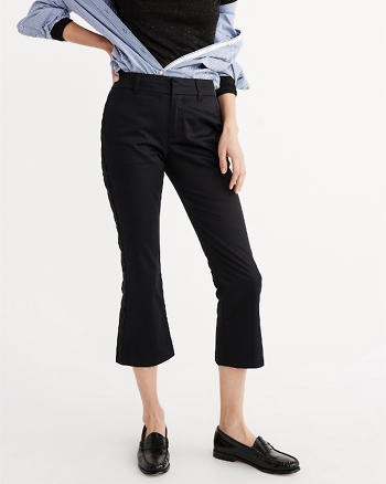 ANF Cropped Flare Trouser Pants