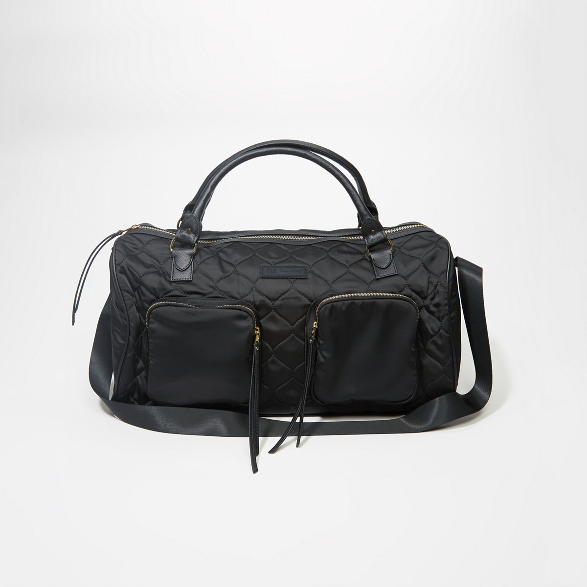 Quilted Satin Duffle Bag