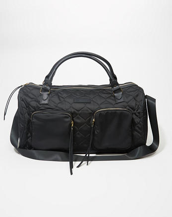 ANF Quilted Satin Duffle Bag