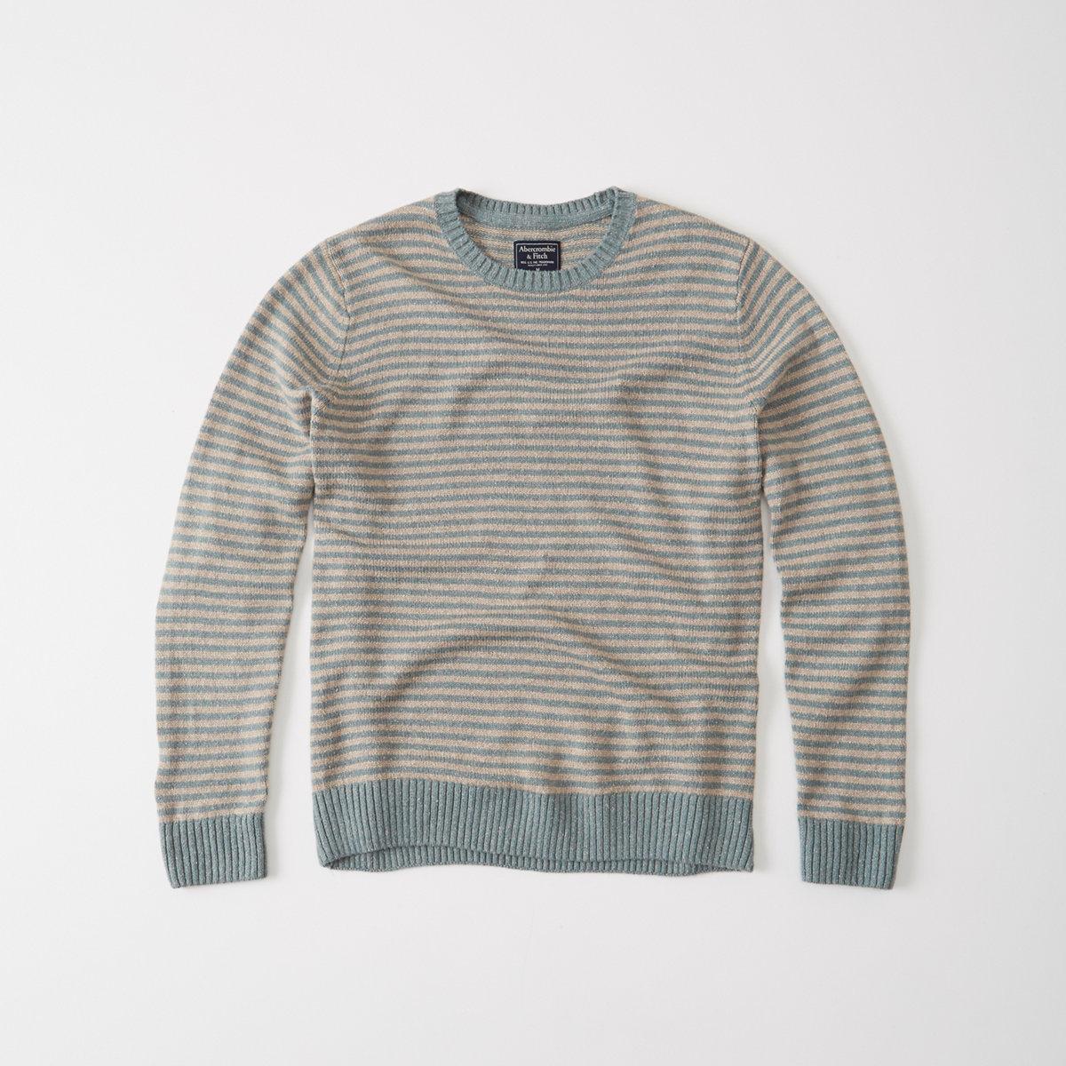 Striped Crew Sweater