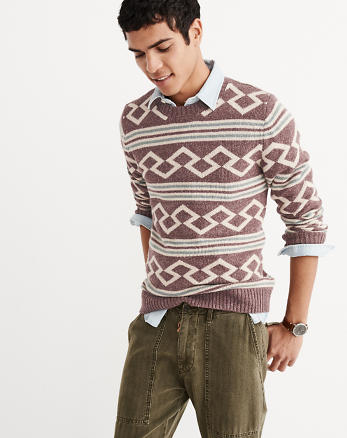 ANF Patterned Crew Sweater