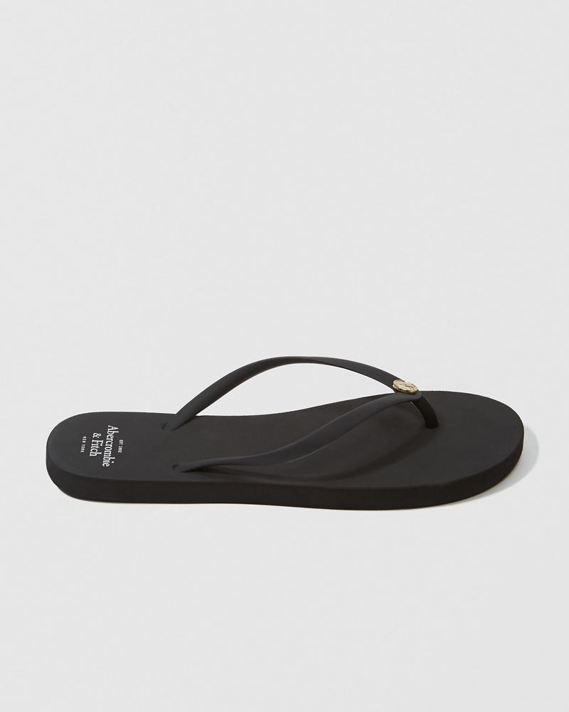 Womens Solid Rubber Flip Flops  Womens Shoes -4856