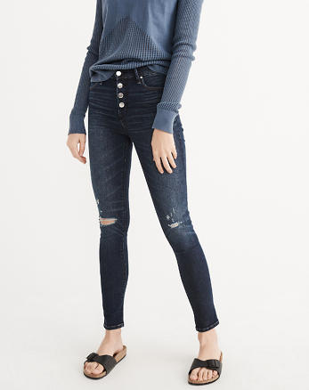 ANF High Rise Super Skinny Jeans