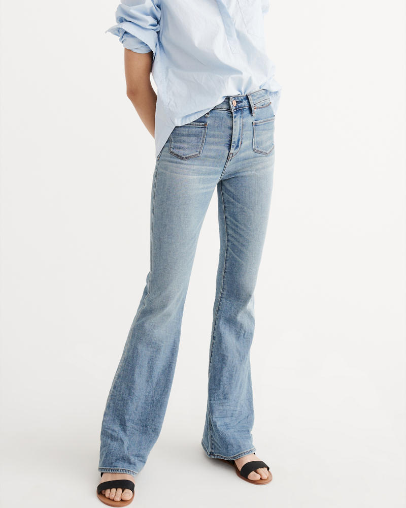 Womens Flare Jeans | Abercrombie & Fitch