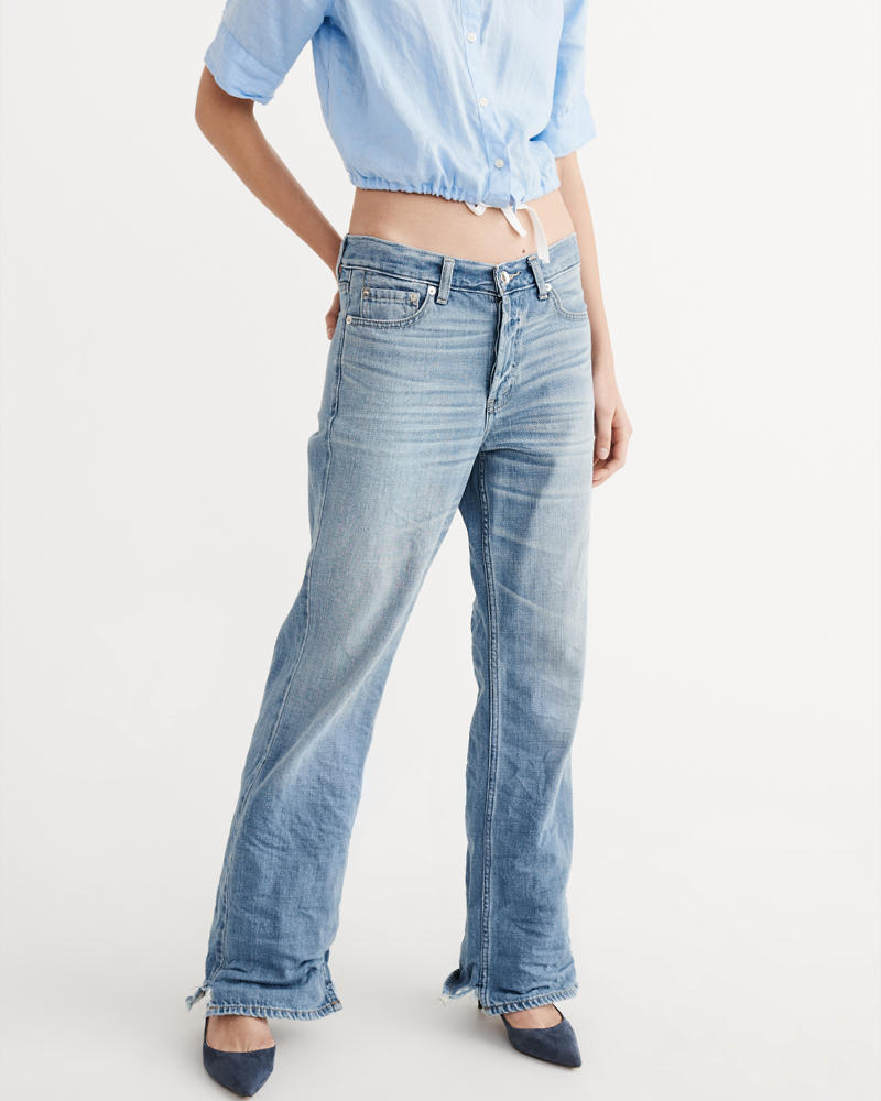 Womens Wide Leg Jeans | Abercrombie & Fitch