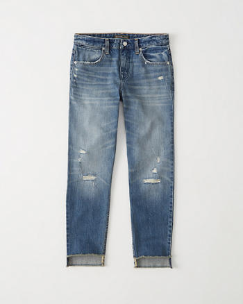 ANF Straight Ankle Jeans