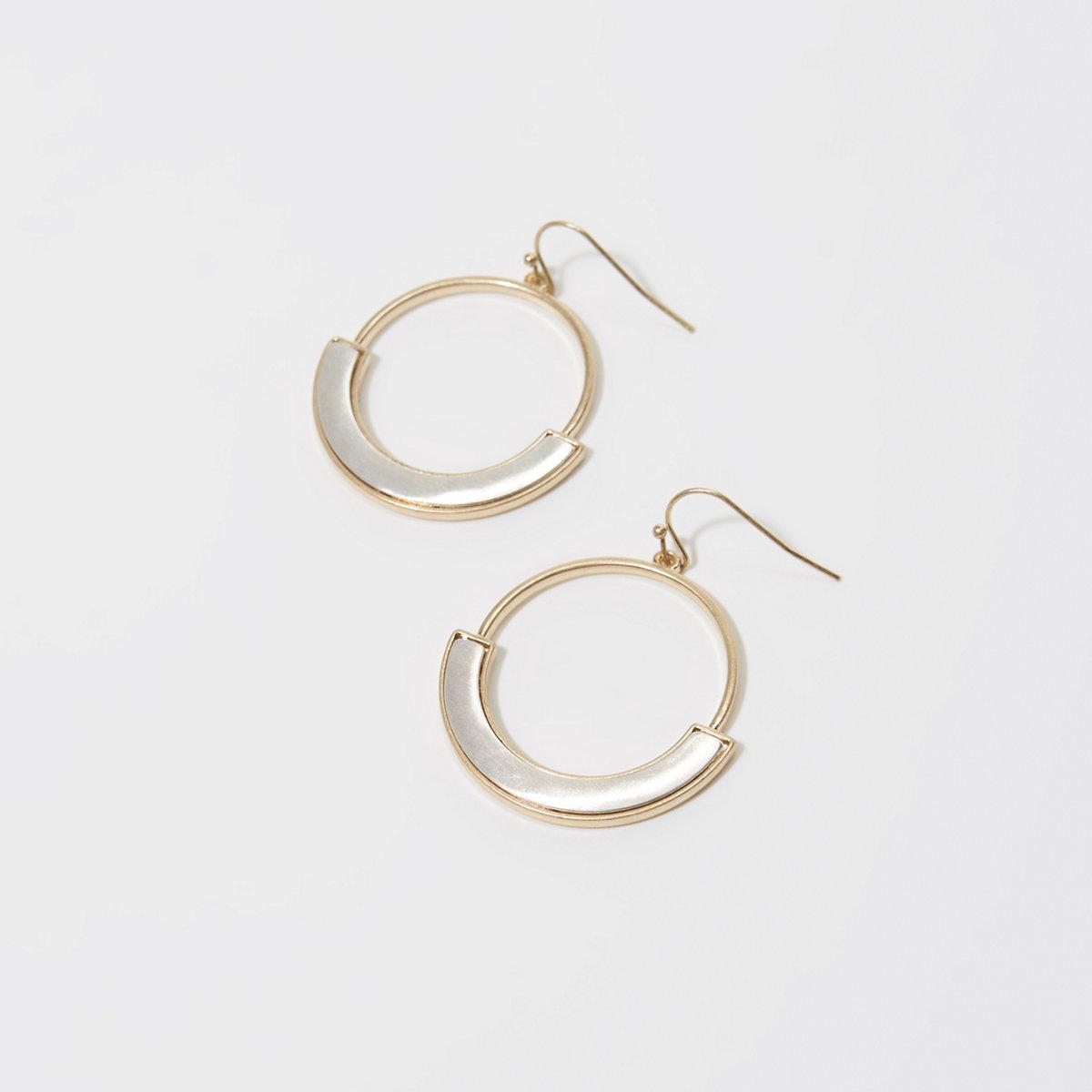 Brushed Hoop Earrings