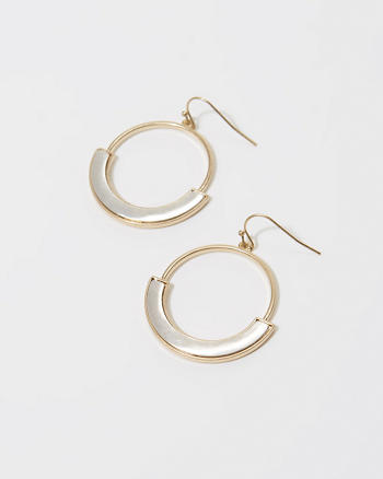 ANF Brushed Hoop Earrings