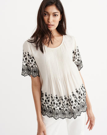 ANF Embroidered Top