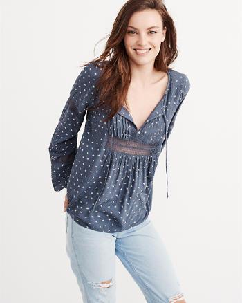 ANF Crochet Peasant Top