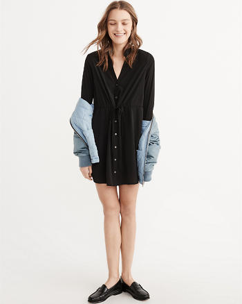 ANF Long-Sleeve Shirtdress