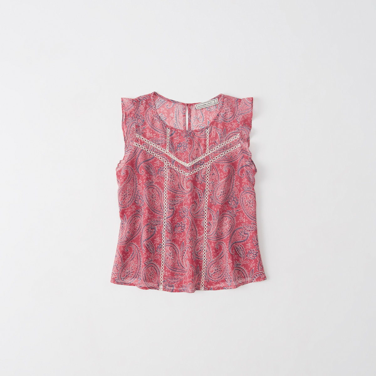 Pattern Ruffle Top