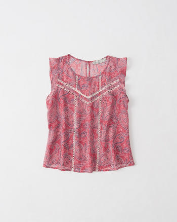 ANF Pattern Ruffle Top