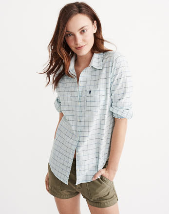 ANF Striped Oxford Shirt