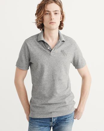 ANF Garment Dye Big Icon Polo