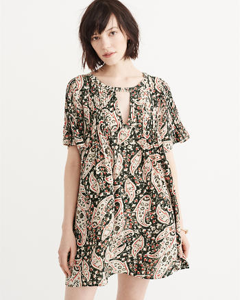 ANF Short Sleeve Trapeze Dress