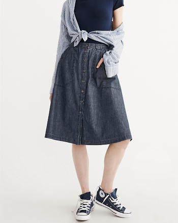 ANF Denim Midi Skirt
