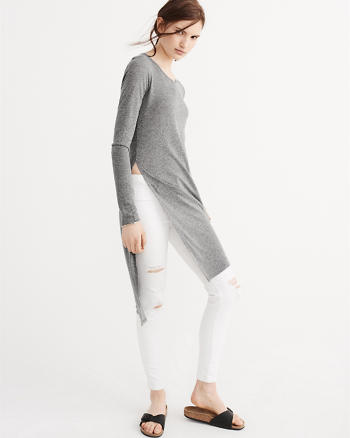 ANF Long Sleeve Tunic Tee