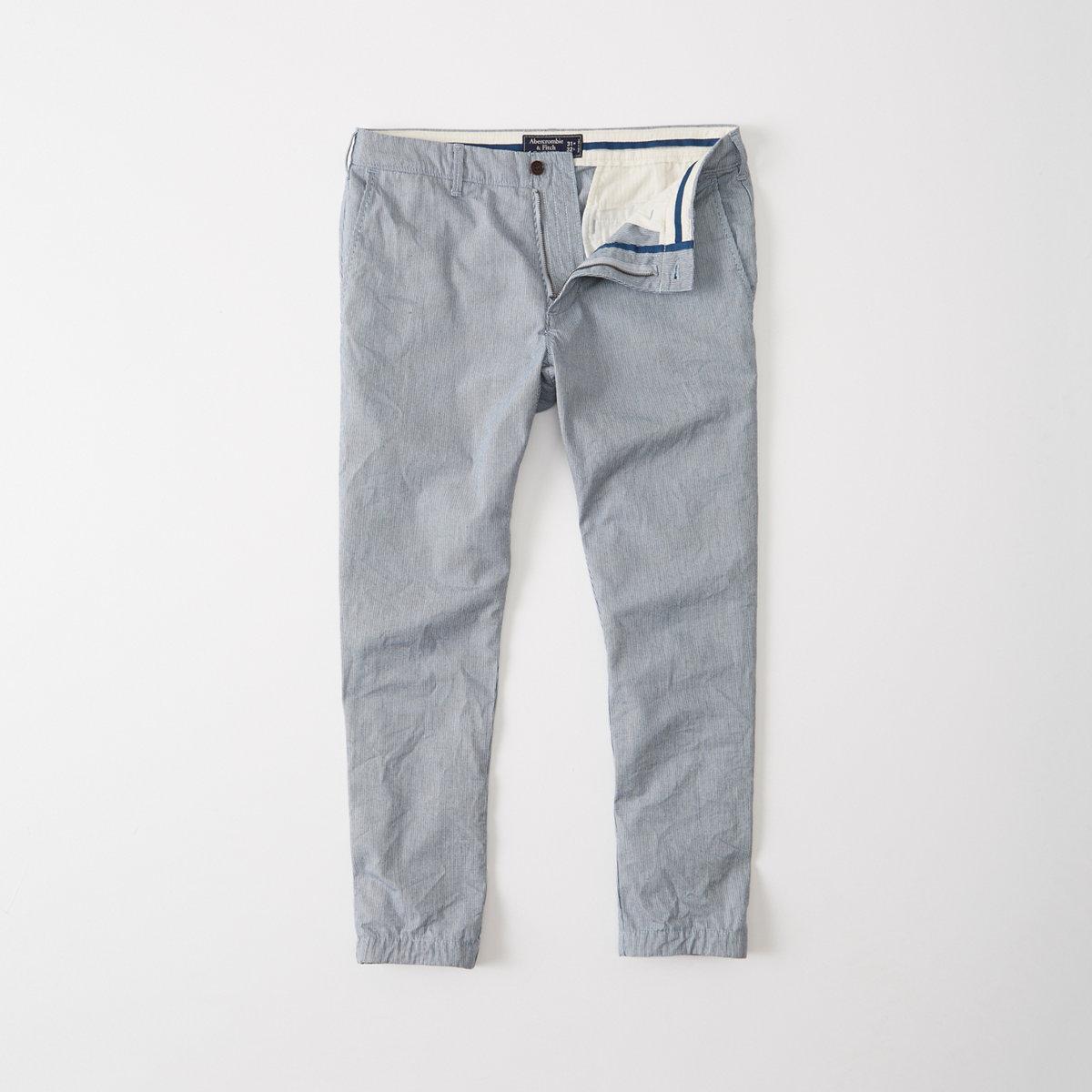 Indigo Cropped Chino Pants