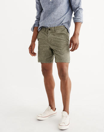 ANF Flat-Front Preppy Shorts