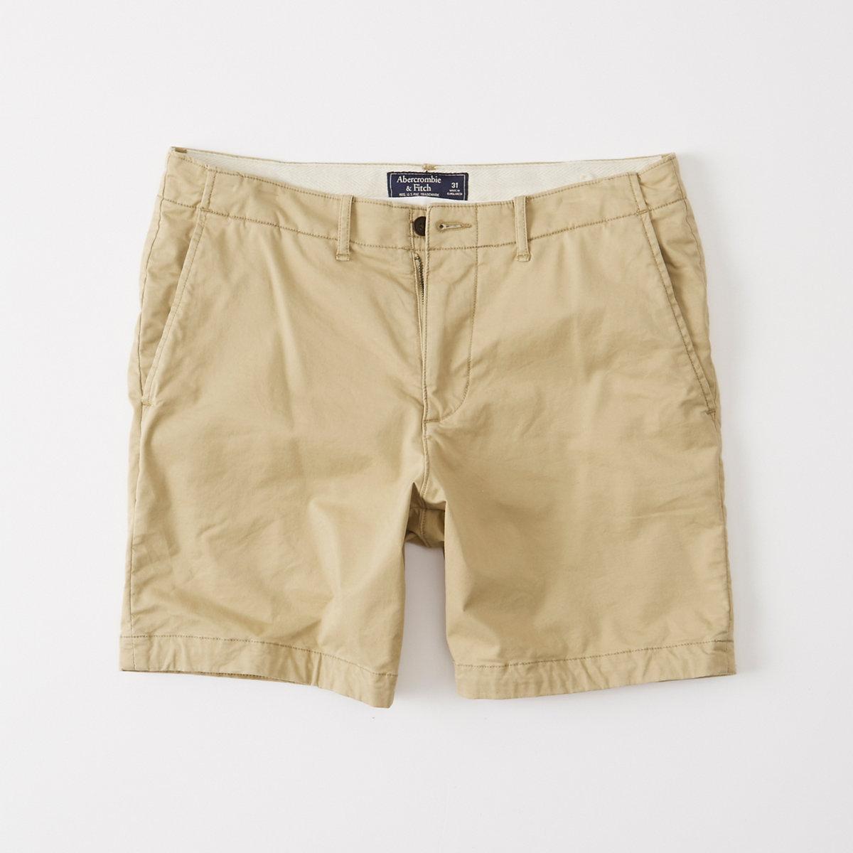 Plainfront Shorts