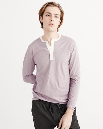 ANF Long-Sleeve Burnout Henley