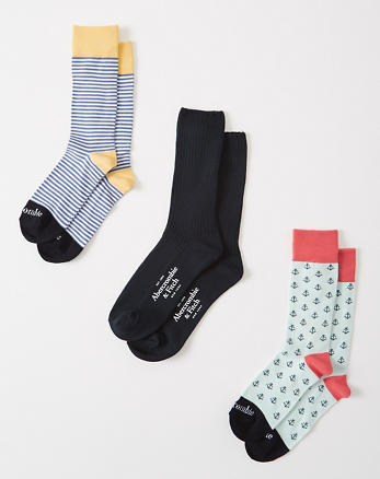 ANF 3-Pack Casual Socks