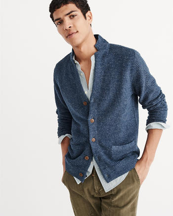 ANF Notch Collar Cardigan