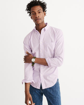 ANF Stretch Poplin Shirt
