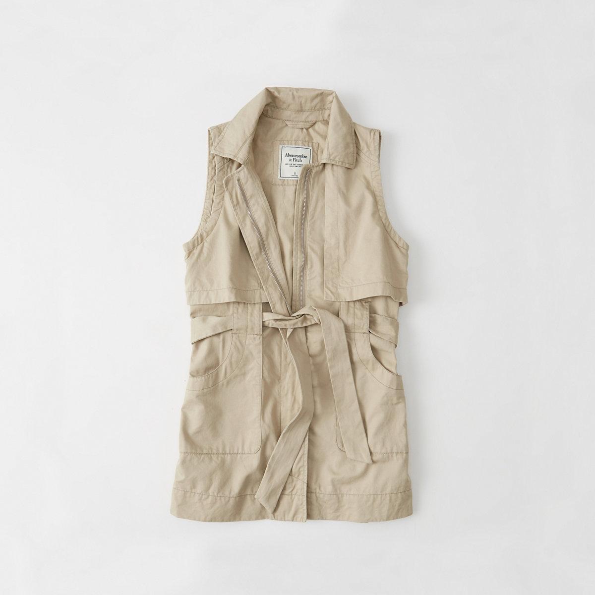Drapey Trench Vest