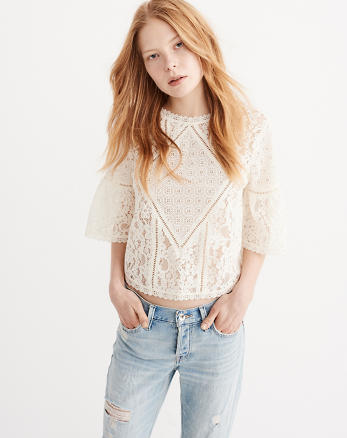 ANF Lace Mix Blouse