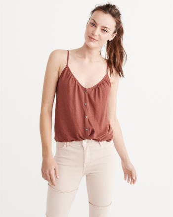ANF Button Front Tie Cami